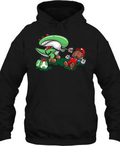 Alien And Super Mario hoodie Ad
