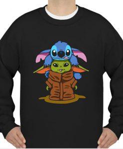 Baby Stitch And Baby Yoda sweatshirt Ad