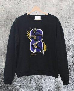 Baltimore Raven Lamar Jackson Sweatshirt Ad