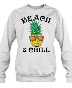 Beach & Chill Glasses Pineapple sweatshirt Ad