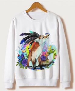 The Fox With Butterfly Sweatshirt Ad