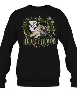 Valentines Day Military Cupid Heartthrob sweatshirt Ad