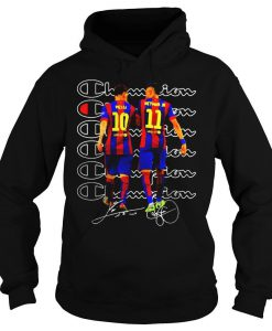 10 Lionel Messi 11 Neymar Jr Champion Signatures hoodie Ad
