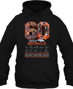 60 Years Of 1959-2019 Broncos hoodie Ad