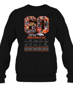 60 Years Of 1959-2019 Broncos sweatshirt Ad