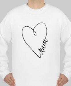 Artist Heart sweatshirt Ad