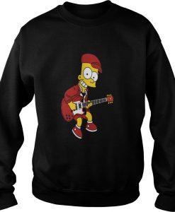Bart Simpson Playing sweatshirt Ad