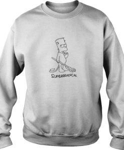 Bart Simpson superradical sweatshirt Ad