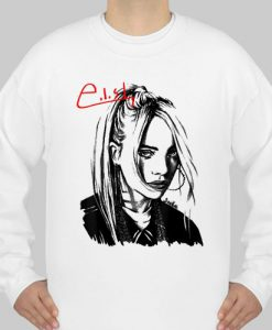 Billie Eilish Portrait Drawing sweatshirt Ad