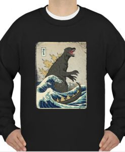 The Great Godzilla off Kanagawa sweatshirt Ad