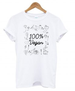 100% Pure Vegan – World Vegetarian Day T shirt