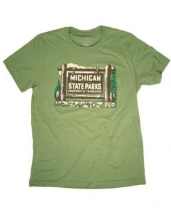 1961 Michigan State Parks Vehicle Permit T shirt
