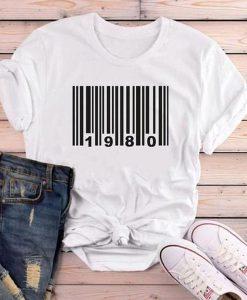 1980 birthday t shirt FR05