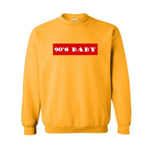 90s Baby Font Sweatshirt