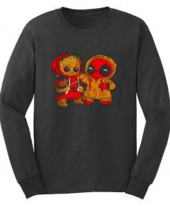 Baby Groot And Baby Deadpool Sweatshirt