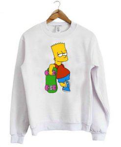 Bart The Simpsons Skateboard Sweatshirt