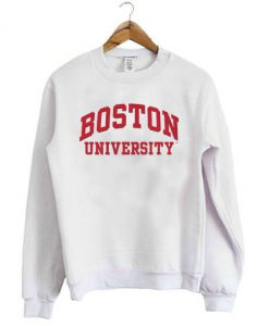 Boston University White Sweatshirt