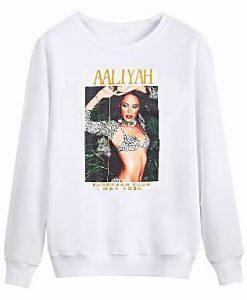 Aaliyah Tour 1995 sweatshirt FR05