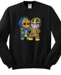 Baby Groot And Thanos sweatshirt FR05