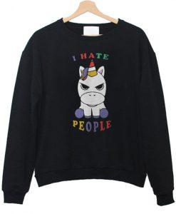 Baby Unicorn I Hate People sweatshirt FR05