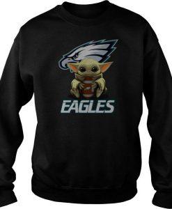 Baby Yoda Hug Philadelphia Eagles sweatshirt FR05