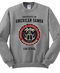 University of American Samoa Law School sweatshirt FR05