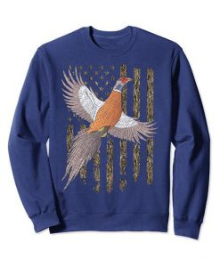 Usa American Flag Tree Camouflage Pheasant Hunting Gift Sweatshirt FR05